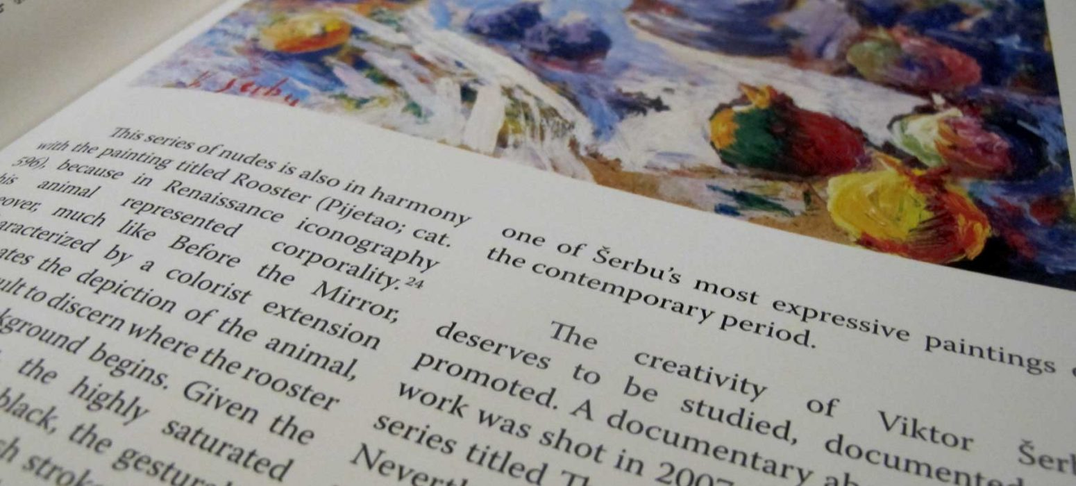 Page detail from an art book