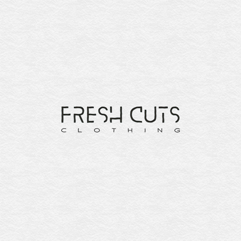Logotype design for Fresh Cuts Clothing company in Dublin.